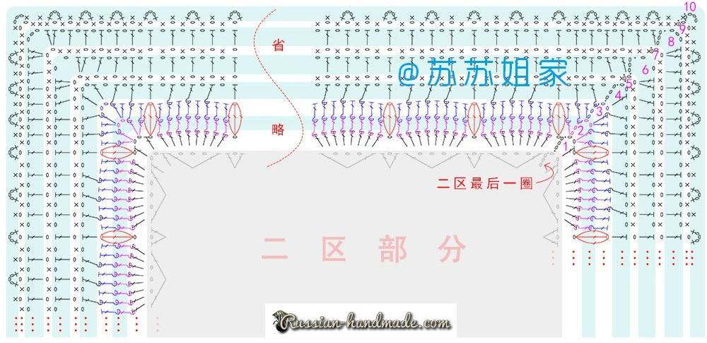 Схемы вязания пледа и подушки многоцветным узором (3)