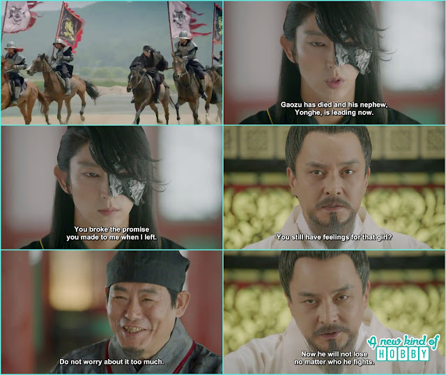 4th prince came back from jin and king ordered him to go to khitan but he refuse as king break th epromise and kick hae so out of the palace- Moon Lover Scarlet Heart Ryeo - Episode 12 - Review