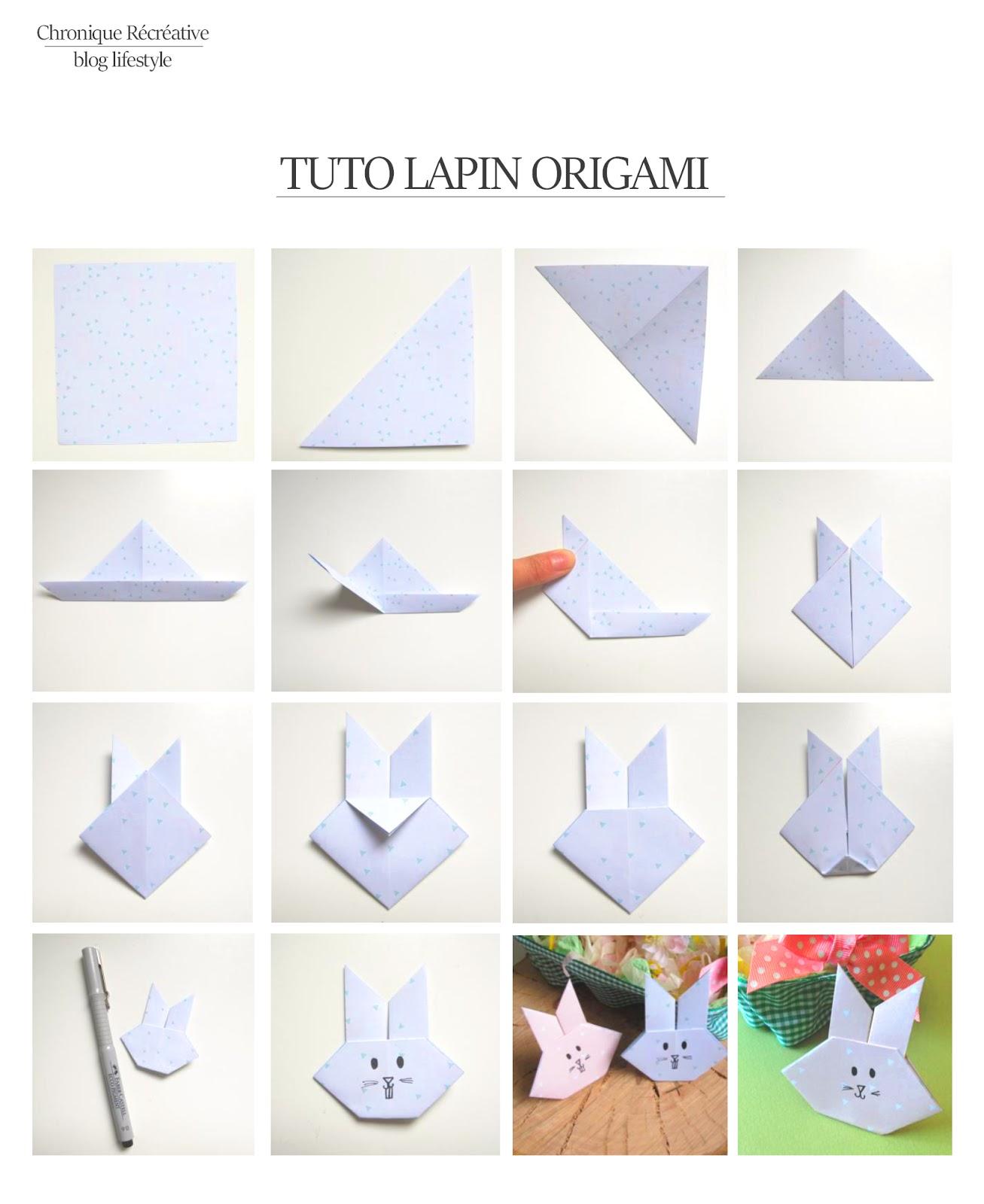 chronique r cr ative tuto lapin origami de paques. Black Bedroom Furniture Sets. Home Design Ideas