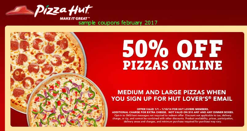 Pizza hut coupons 5 dollars off