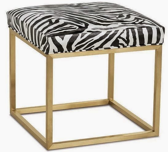 animal print ottoman table