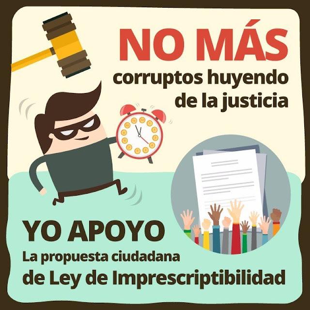Acabemos con la impunidad apoyando la no prescripción de los delitos de corrupción — Firma esta petición