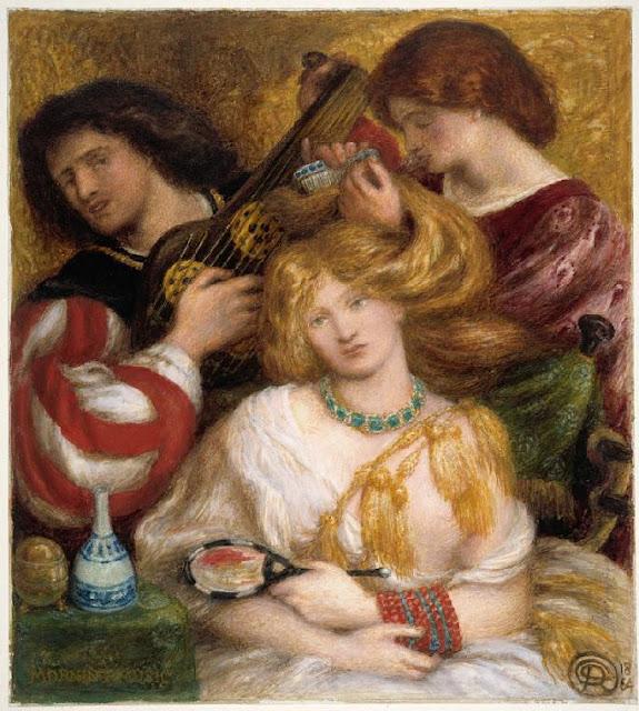 Quadro Rossetti con musicisti