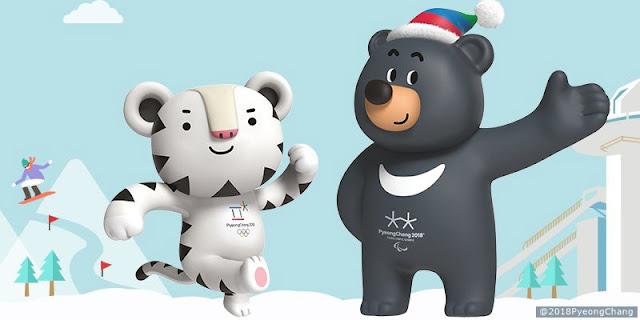 2018 Pyeongchang Kış Olimpiyatlarının Maskotları