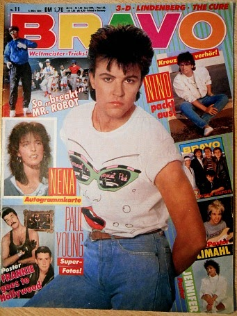 Bravo Magazine 1984 featuring Paul Young