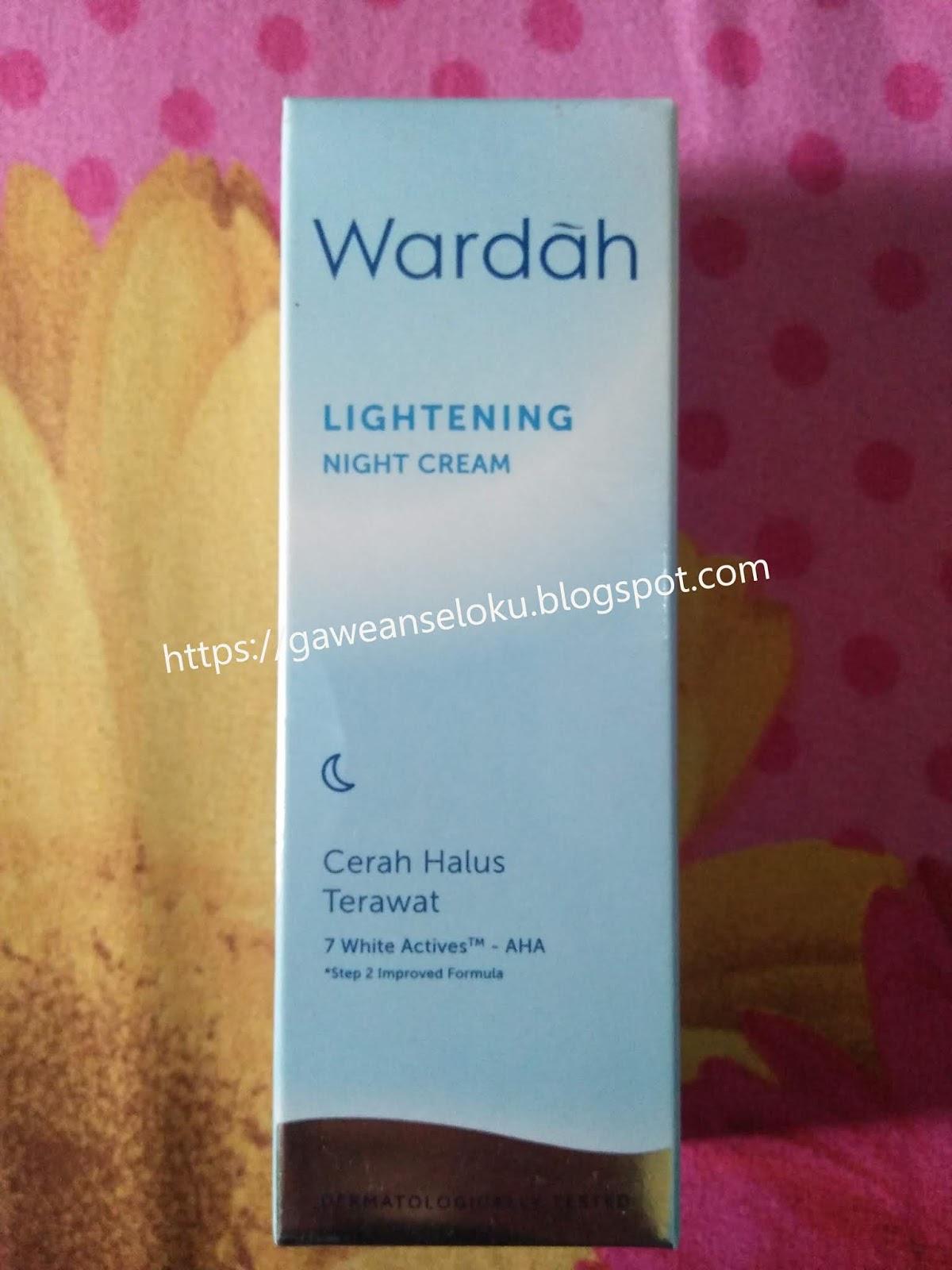Wardah Lightening Night Cream Step 2 Improved Formula 1