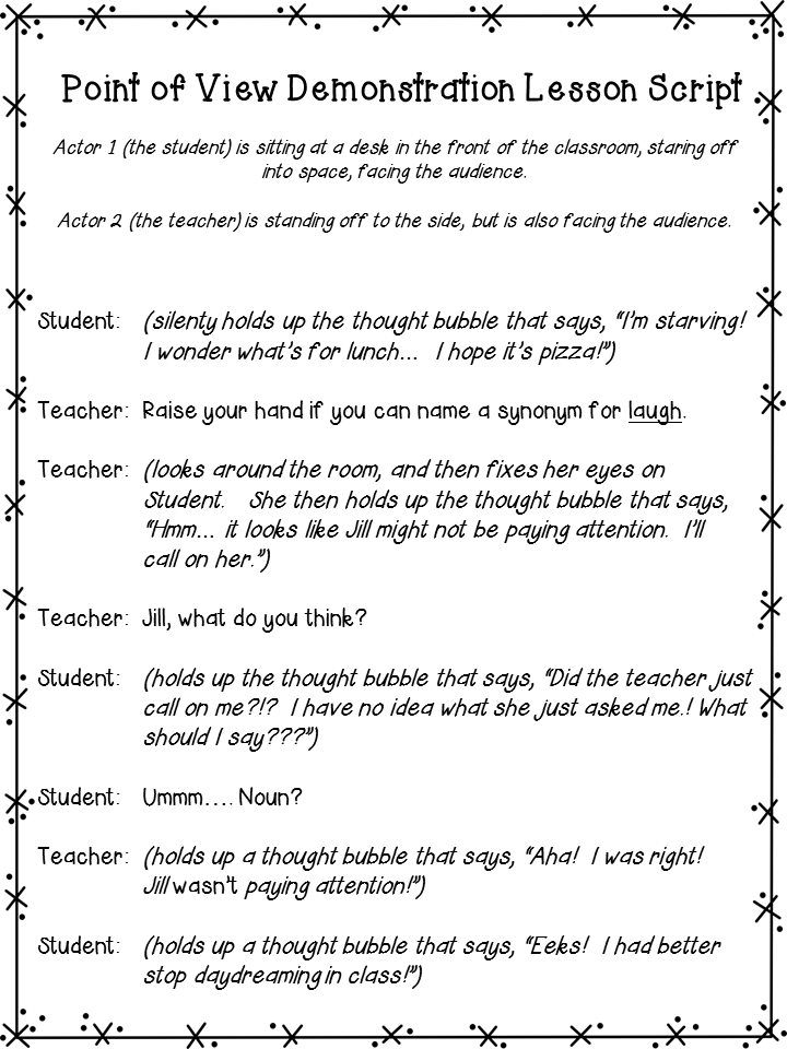 Teaching Points of View through Role Play (FREE lesson to download ...