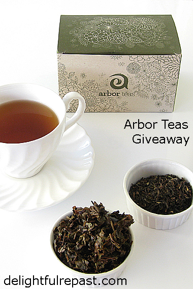 Arbor Teas Giveaway - Organic Loose Leaf Tea and Stainless Steel Infuser / www.delightfulrepast.com