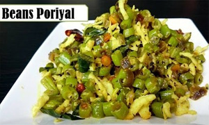 Beans poriyal in tamil | Basic beans poriyal in 10 minutes | Quick and easy side dish for rice