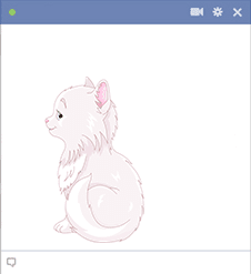 Cutest cat emoticon for Facebook