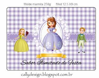 Etiquetas de Princesa Sofía en Fondo a Cuadros para imprimir gratis.