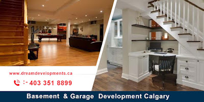 Basement & garage development in Calgary