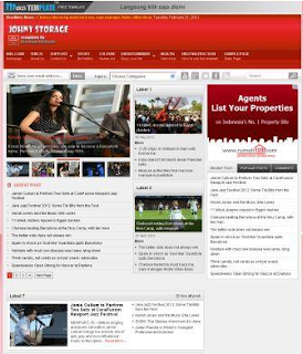 Johny Storage Red Blogger Template Gratis Free Download