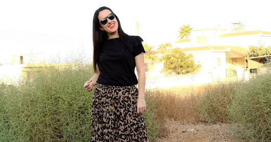 Leopard print skirt - wearing the trend of this season