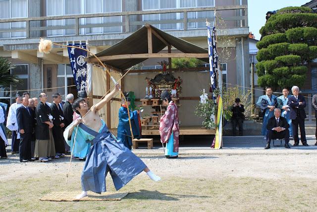 Sairei-furyu (Momote Matsuri - Japanese Archery Ritual), Okinoshima Island, Shimane