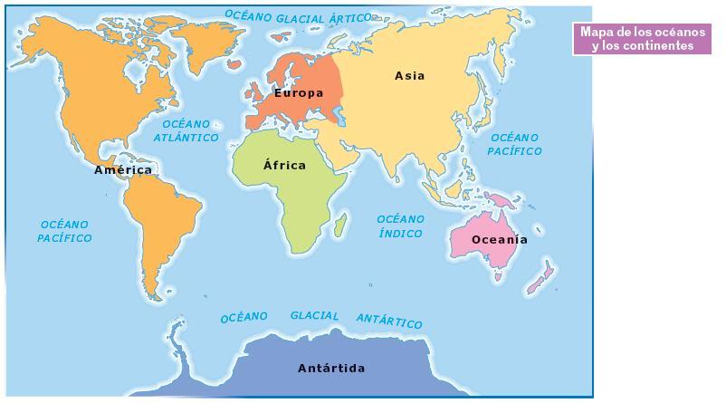 Cuales Son Los 6 Continentes Del Planisferio: GEOGRAFÍA E HISTORIA: El Relieve