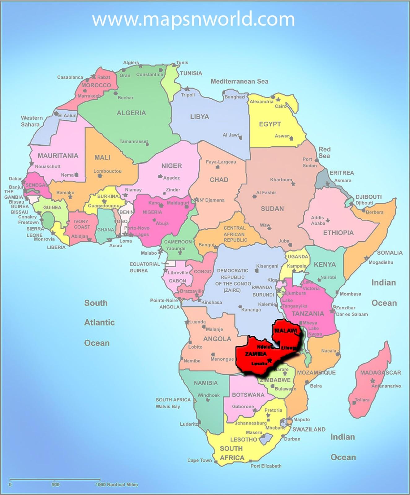 Map Of Africa Zambia.Zambia Map Of Africa Map Of Africa
