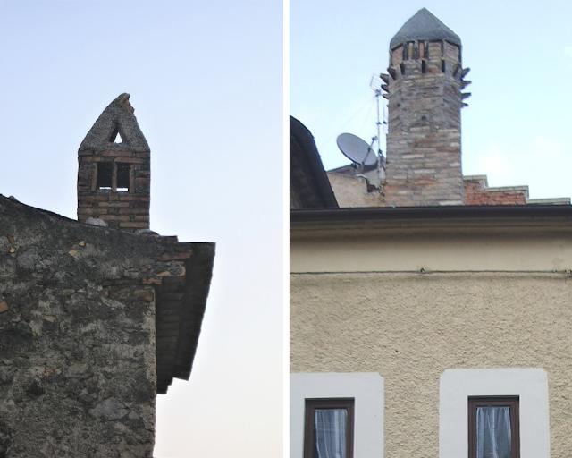 I Comignoli delle case di Civita, in Calabria