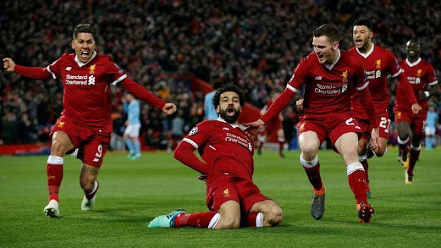 Pemain Liverpool Selebrasi