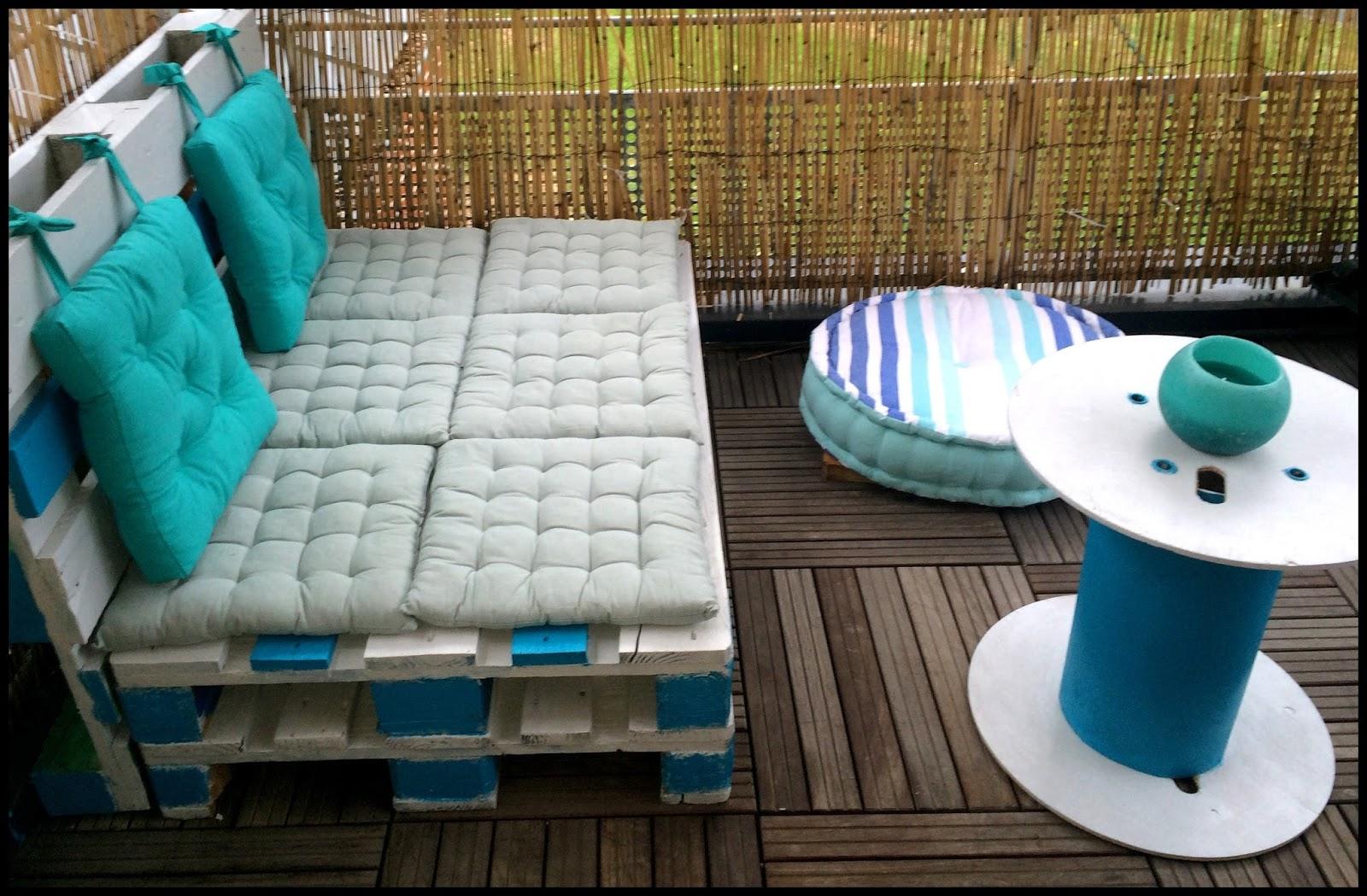 Salon Jardin Palette Diy   Deco Jardin Diy