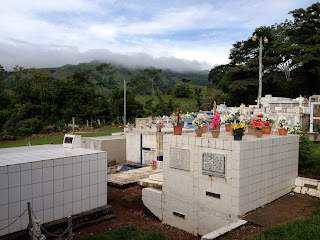 Above ground crypts at cemetery in Puriscal.