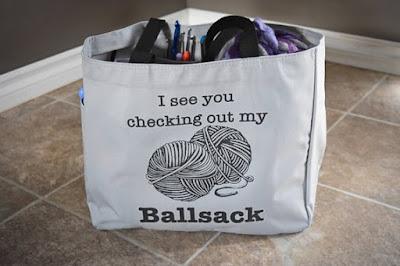 Yarn Tote Bag on Etsy
