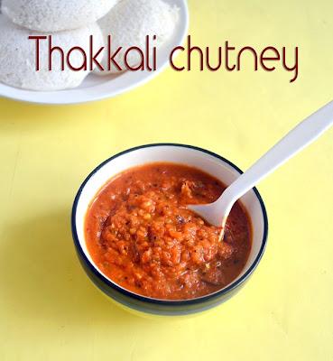 Tomato ginger chutney for idli