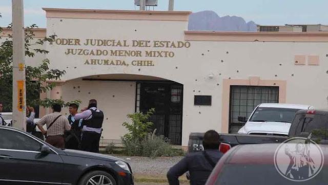 CON CIENTOS DE DISPAROS DE ARMAS LARGAS Y DE CALIBRE .50 SICARIOS ATACAN COMANDANCIA DE MINISTERIALES EN CHIHUAHUA