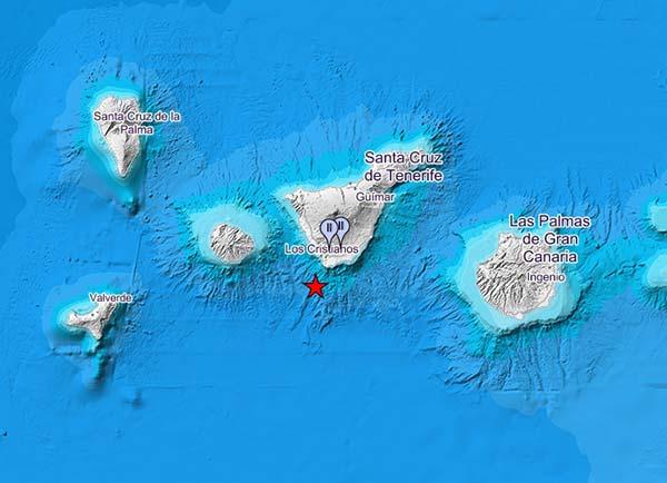 Terremoto sentido  Sur Tenerife , magnitud 4 grados