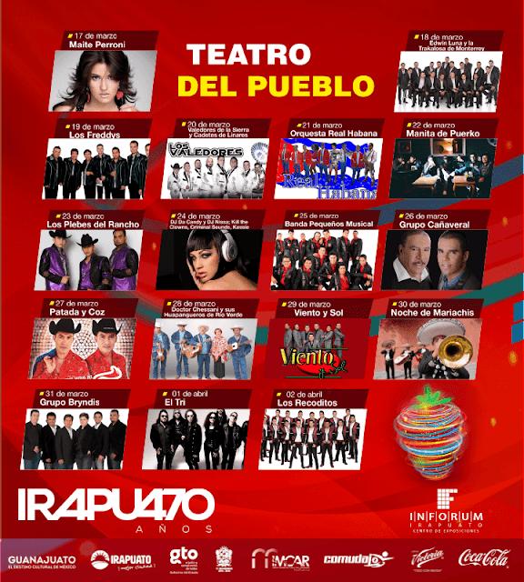 teatro del pueblo feria de las fresas Irapuato 2017
