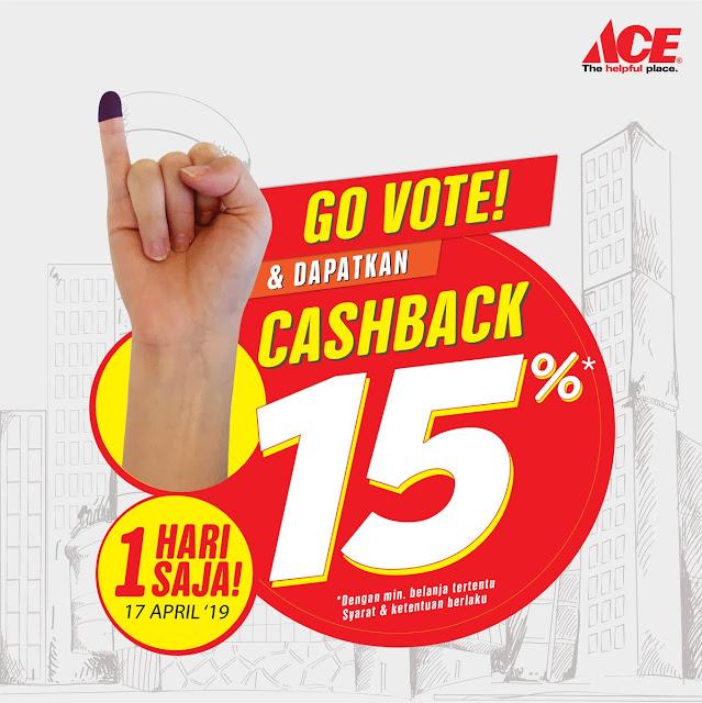 #AceHardware - #Promo Vote & Dapatkan Cashback Hingga 15% (17 April 2019)