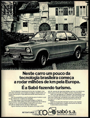 Opel Kadett, GM;  1975. brazilian advertising cars in the 70. os anos 70. história da década de 70; Brazil in the 70s; propaganda carros anos 70; Oswaldo Hernandez;