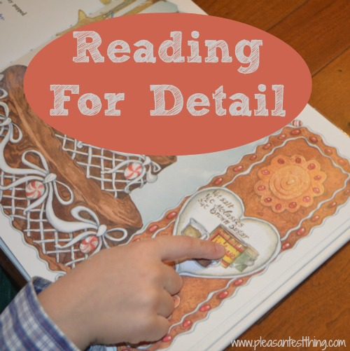 Talking to preschoolers about observing details when reading picture books