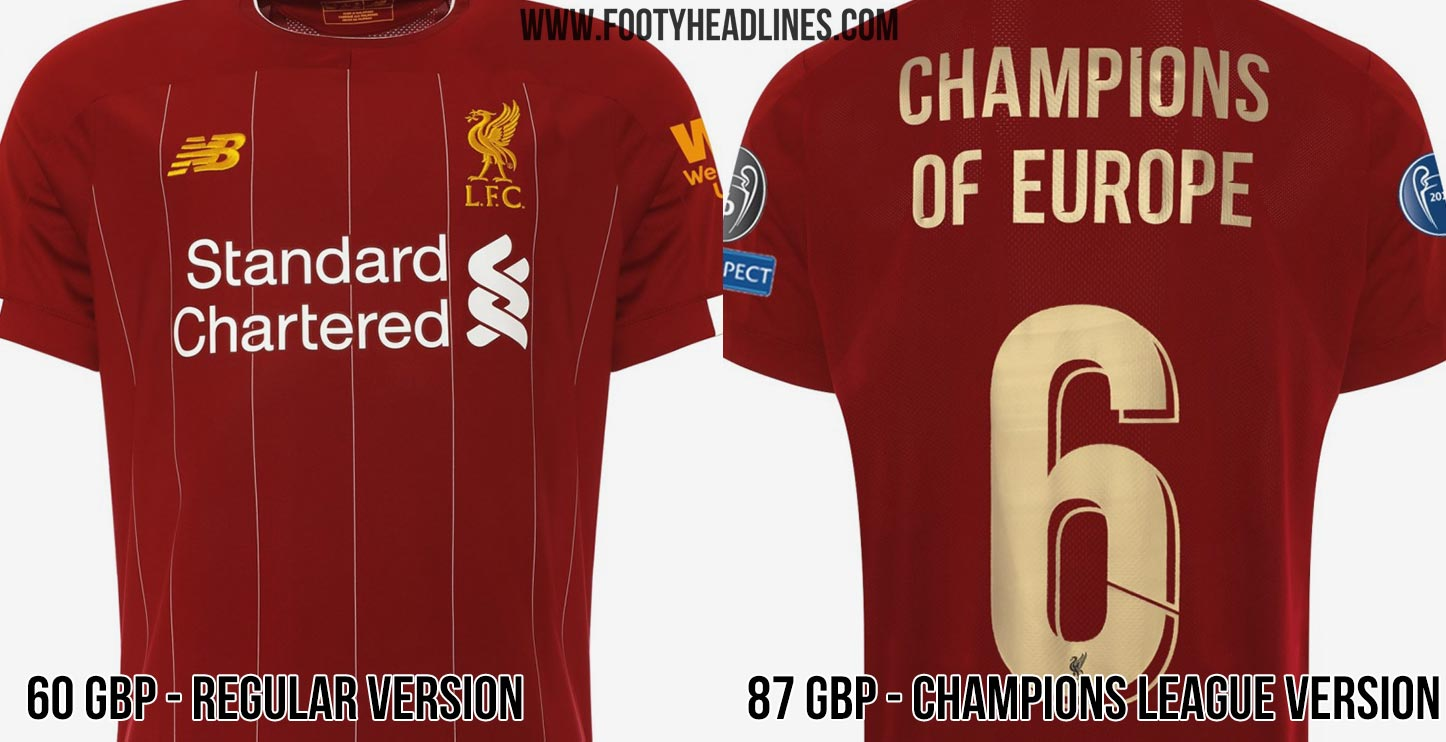 san francisco 37051 415df Liverpool Charges 27 GBP Extra For Champions League Badges ...