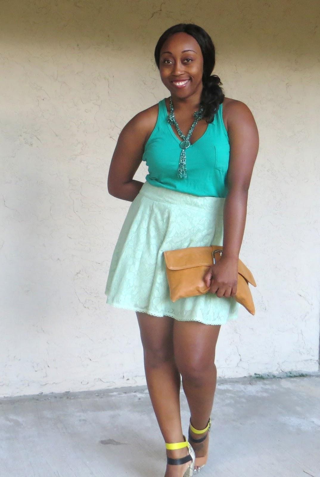 Naked ebony black woman miniskirt