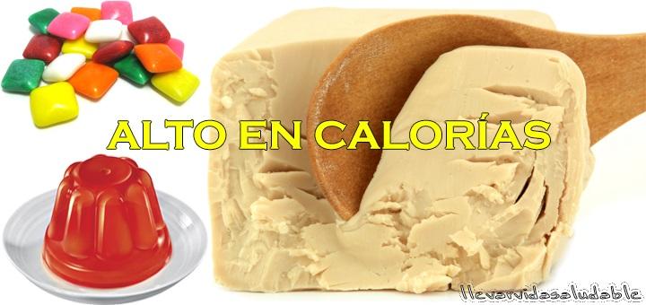 6 Alimentos que contienen altos en calorías