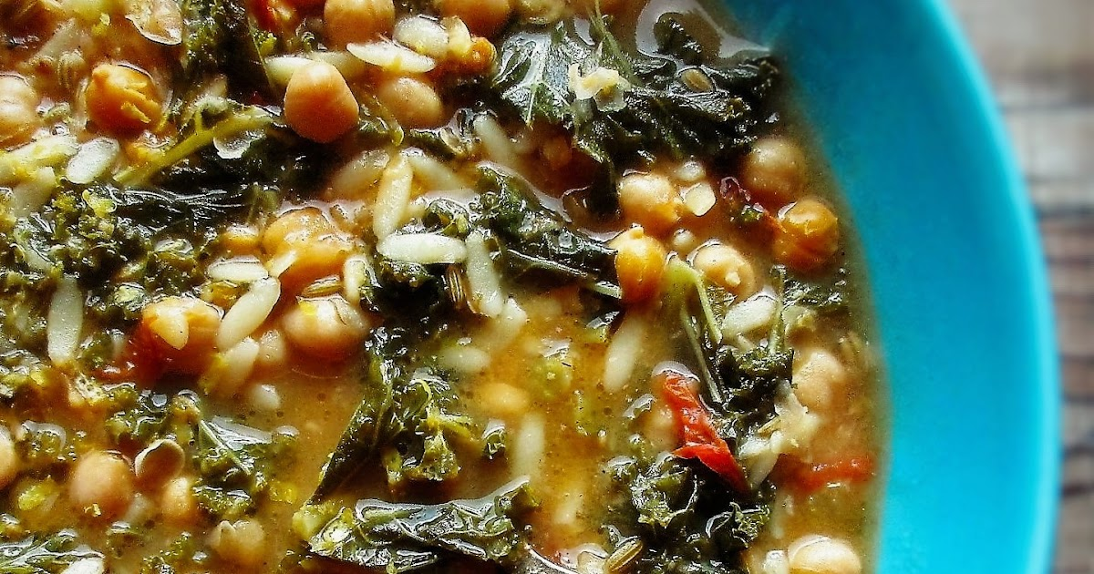 De Tout Coeur Limousin: kale, chickpea and orzo soup with ...