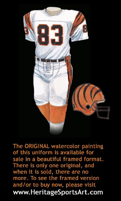 Cincinnati Bengals 1986 uniform