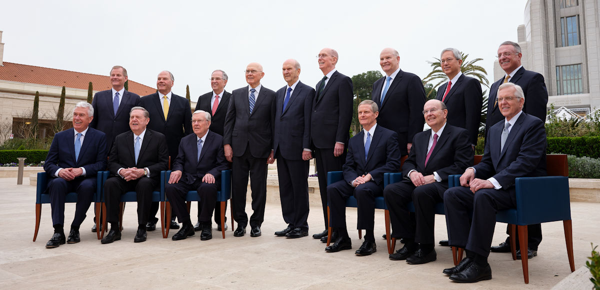 The First Presidency and Quorum of the Twelve Apostles of The Church of Jesus Christ of Latter-day Saints in Rome, Italy