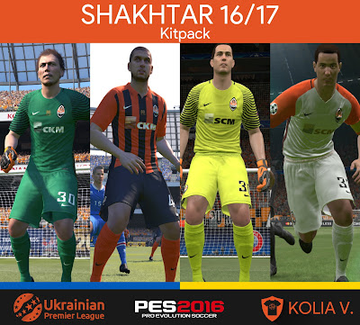 PES 2016 Shakhtar 16/17 Kitpack by ramy