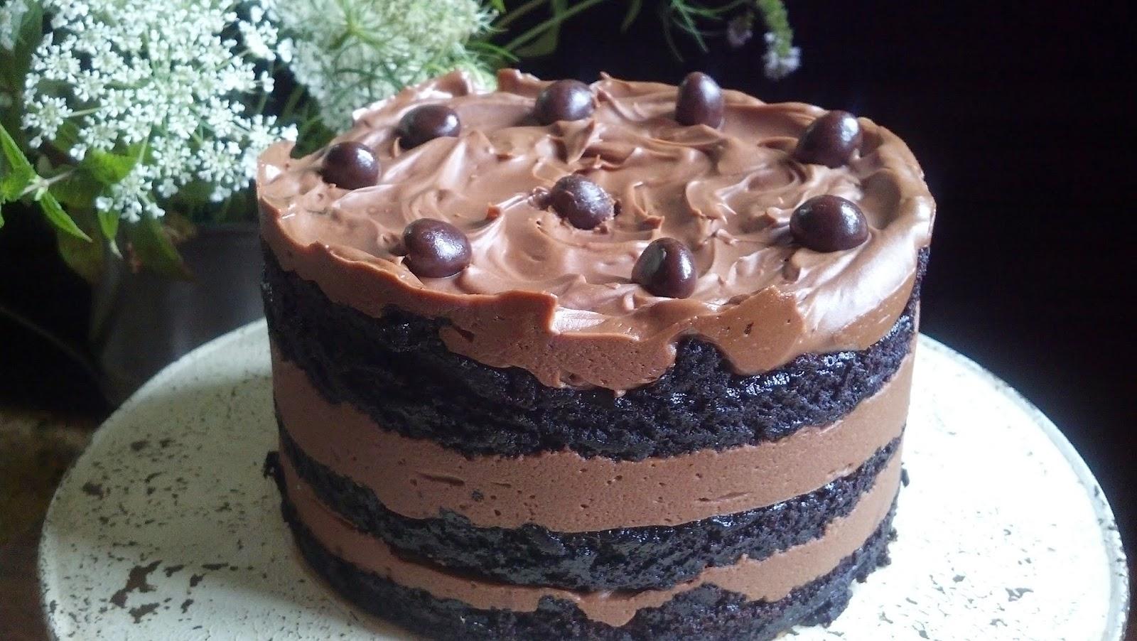 Chocolate Cake With Ercream Icing Momou Style