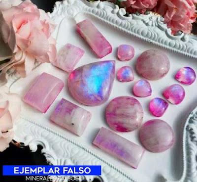 puedra de la luna rosa falsa | foro de minerales