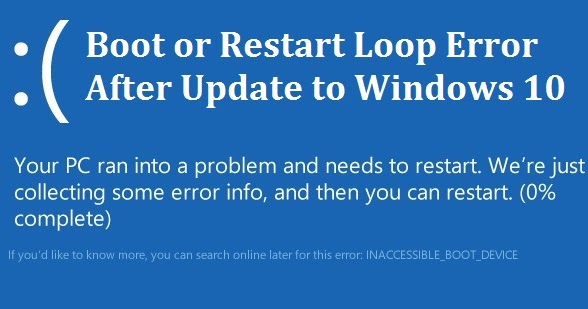 Solved Windows 10 Boot Restart Loop Error After Update