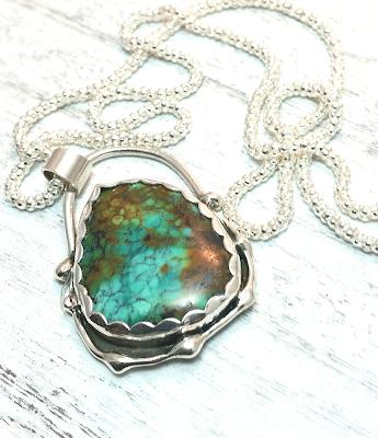 turquoise necklace gemstone pendant