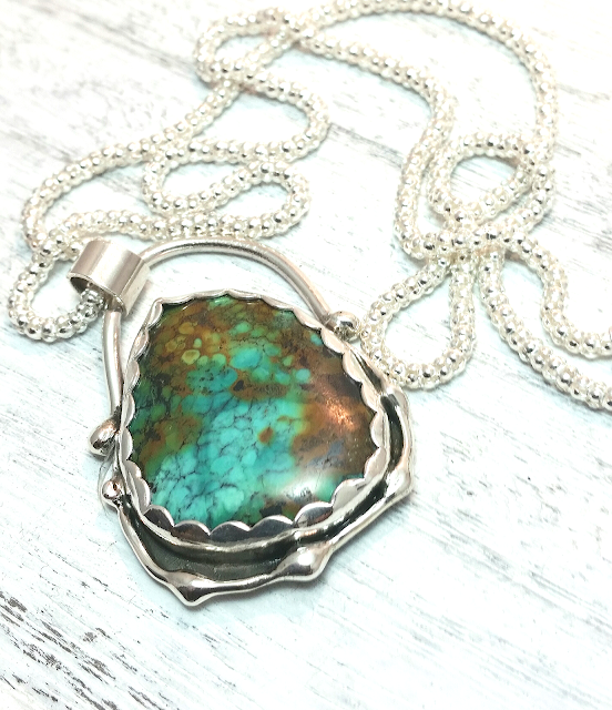turquoise necklace gemstone pendant