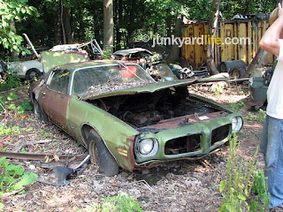 This 1970 Firebird was locked up in a junkyard in 1975, the year the yard closed.