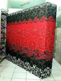 Kasur inoac motif bunga red rose
