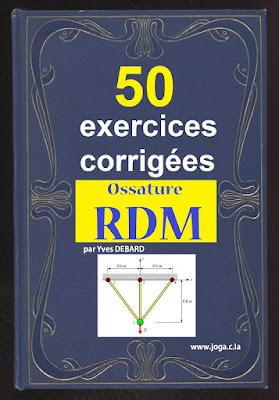 Plus de 50 Exercices Corrigés sur les ossatures (RDM) Par Yves DEBARD