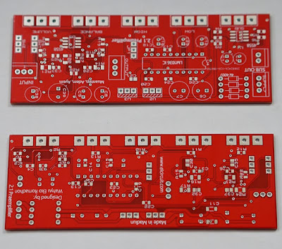 PCB 2.1 HiFi Preamplifier LM1036 + Subwoofer Filter 4558