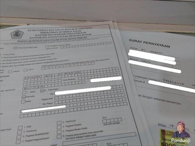 Form Pendaftaran NPWP